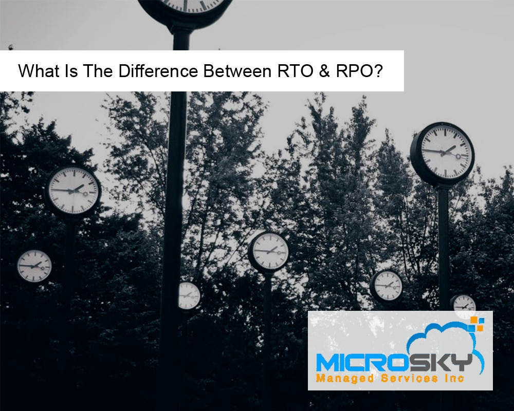 What Is The Difference Between RTO & RPO?